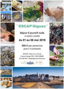 Séjour «Escap'Algues» du 09 au 14/10/2017